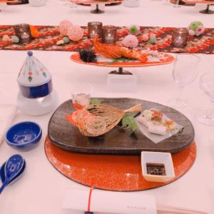 熱田神宮の披露宴での料理。