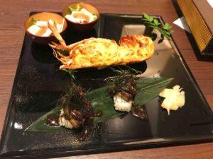河文(THE KAWABUN NAGOYA)のブライダルフェアでのお料理の試食。