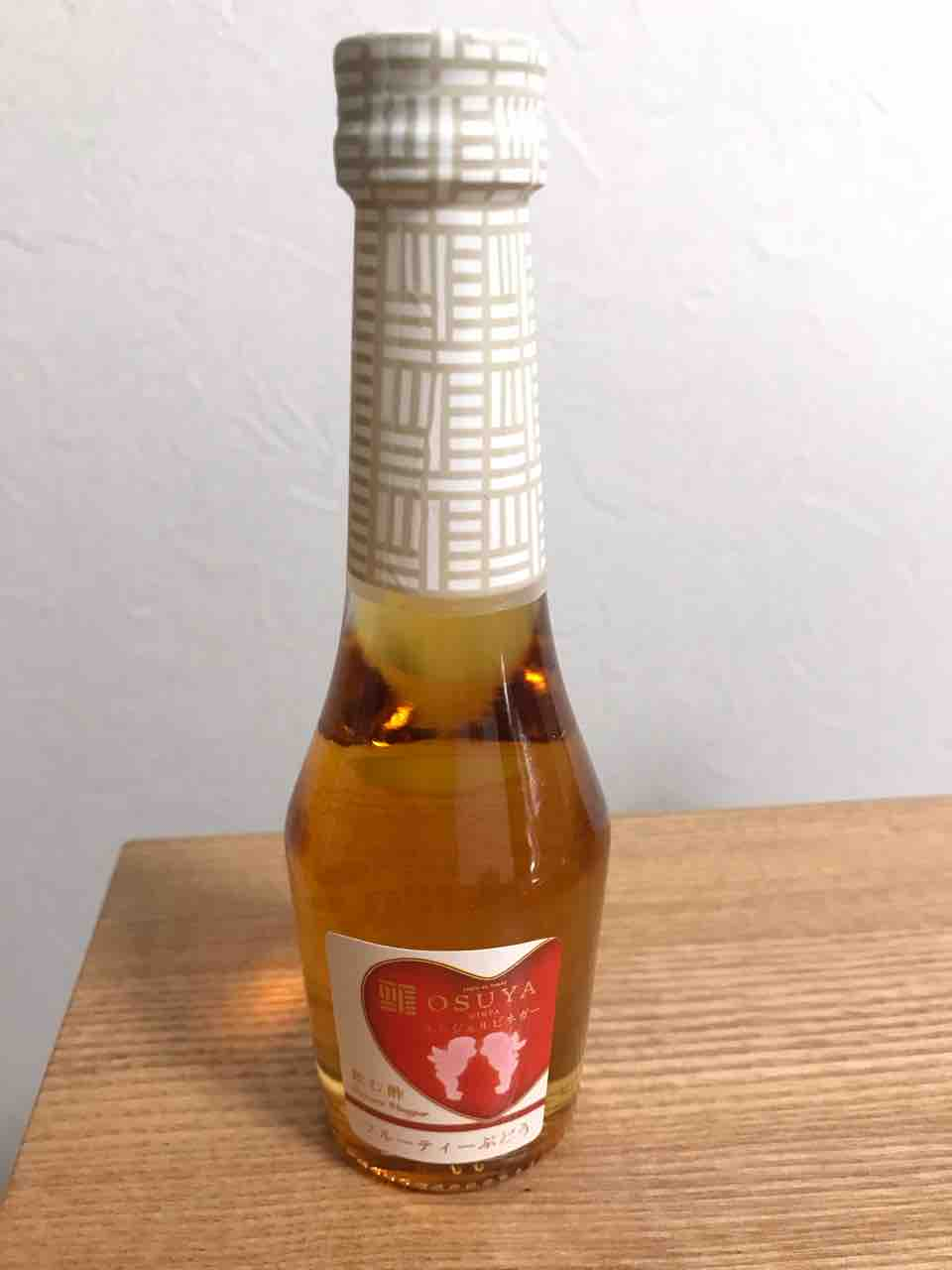 結婚式のプチギフトとしてゲストに贈ったosuyaのデザートビネガー。